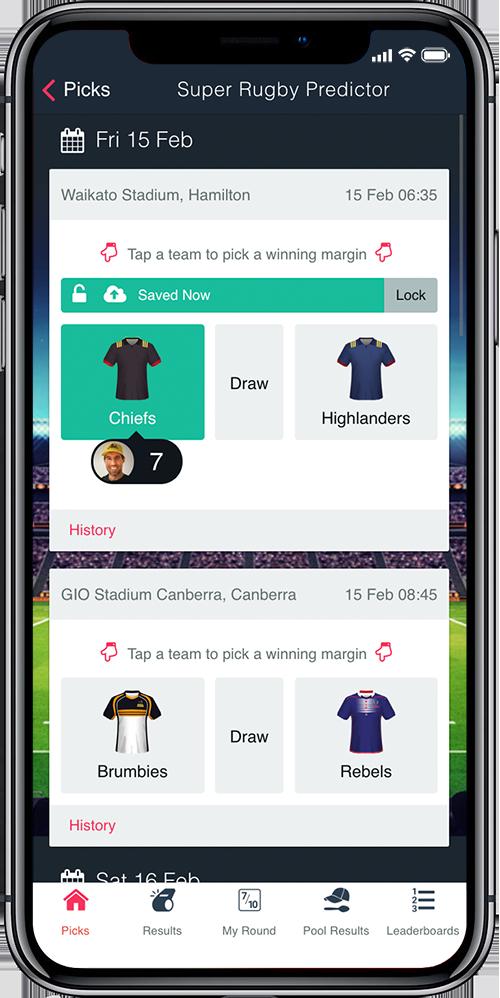 Superbru - Super Rugby 2019 Predictor Game